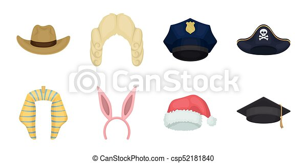 Different Kinds Of Hats Icons In Set Collection For Design.headdress Vector  Symbol Stock Web bd8f636256e4