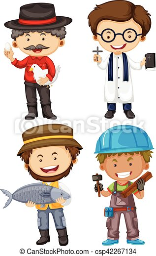 different men doing different jobs illustration vectors search rh canstockphoto com jobs clipart black and white jobs clipart