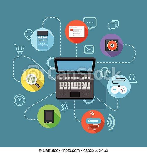Different modern digital device scheme - csp22673463