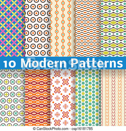 40 Different Modern Vector Seamless Patterns Tiling Texture Can Custom Different Patterns