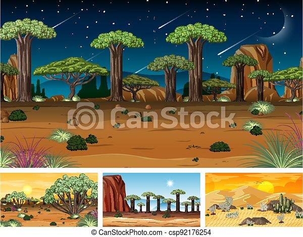 Different nature horizontal scenes - csp92176254