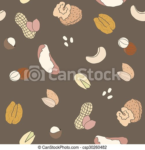 Different nuts pattern. - csp30260482