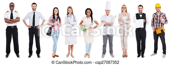 Different occupations. Collage of people in different occupation - csp27087352