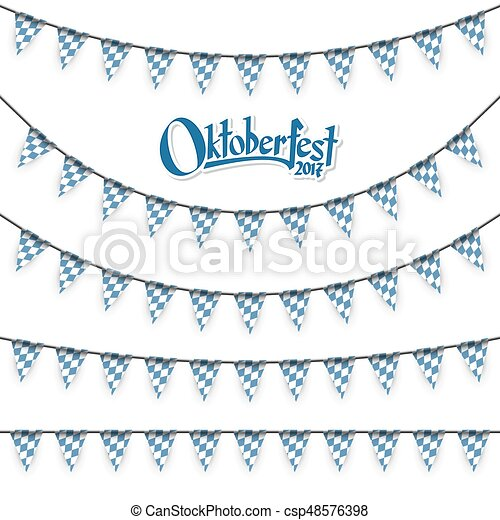 different Oktoberfest garlands - csp48576398