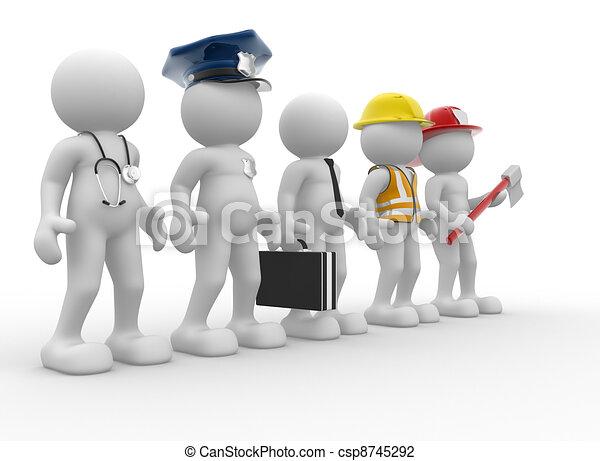 Different professions - csp8745292