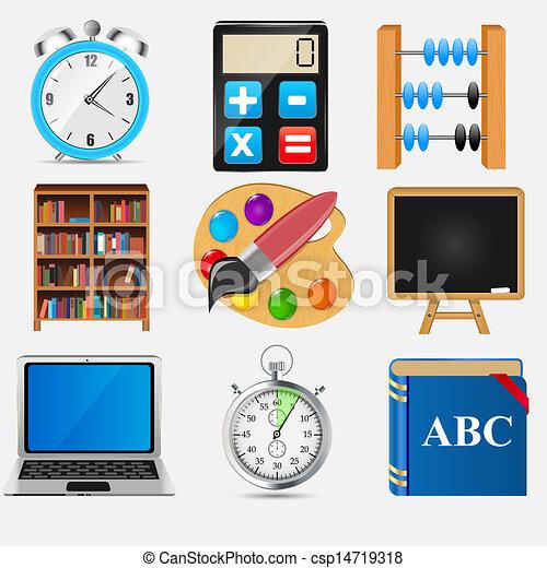 Different school icon vector illustration set2 - csp14719318