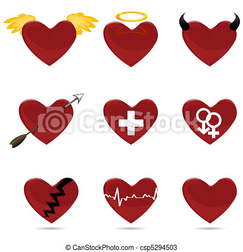 different shapes of heart - csp5294503