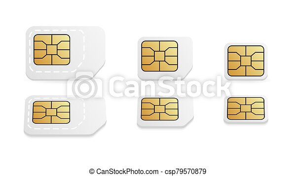 Different Sim Card Size For Mobile Phone Standard Micro And Nano Mobile Card Different Sim Card Size For Mobile Phone Canstock