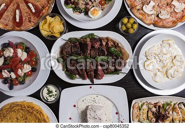 different Spanish tapas foods - csp80045352