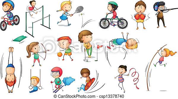 Different sports activities - csp13378740