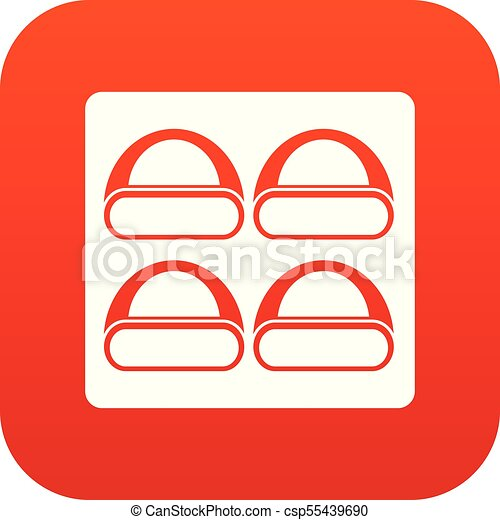 Different sushi icon digital red - csp55439690