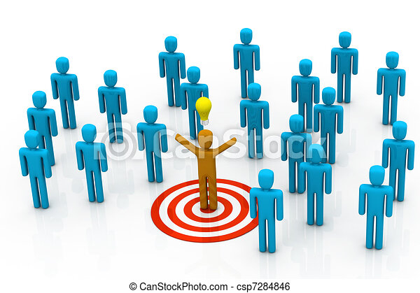 different team leader target stock illustration search clip art rh canstockphoto com
