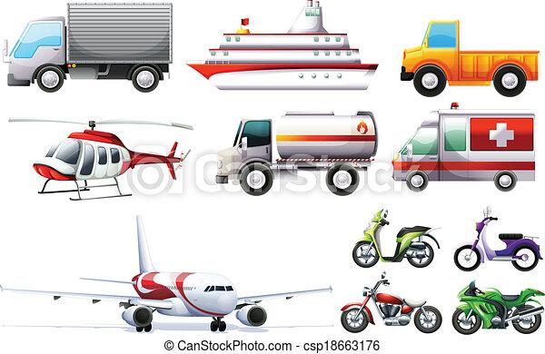 Different transportations - csp18663176