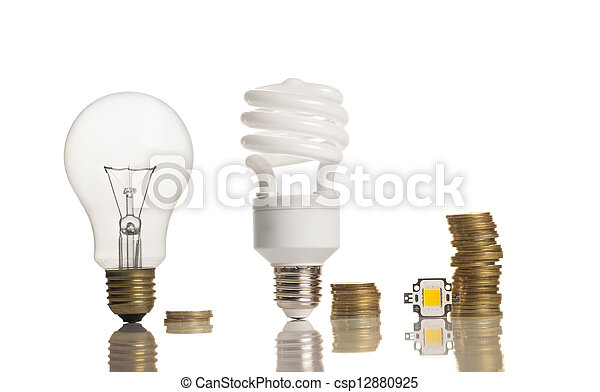 different types of light bulbs - csp12880925