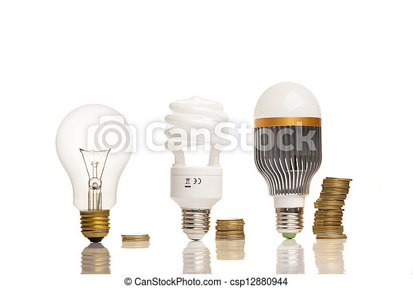 different types of light bulbs - csp12880944