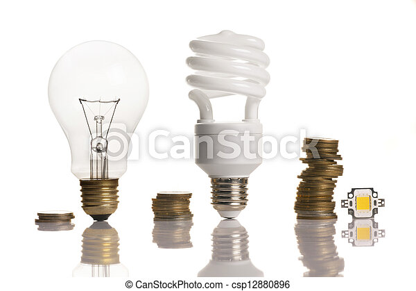 different types of light bulbs - csp12880896