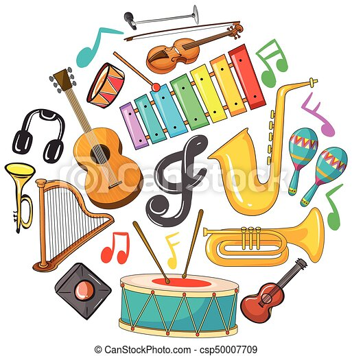 Different types of musical instruments - csp50007709