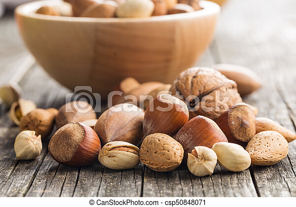 Different types of nuts in the nutshell
