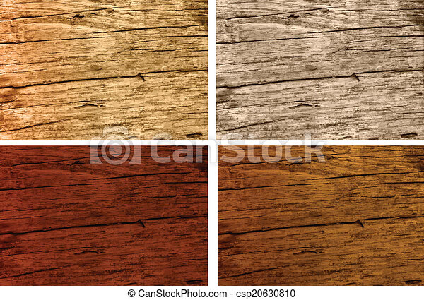 Different Types Of Rustic Old Oak Wood Different Stained