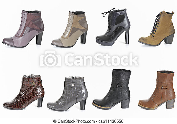 Different types of woman boot - csp11436556