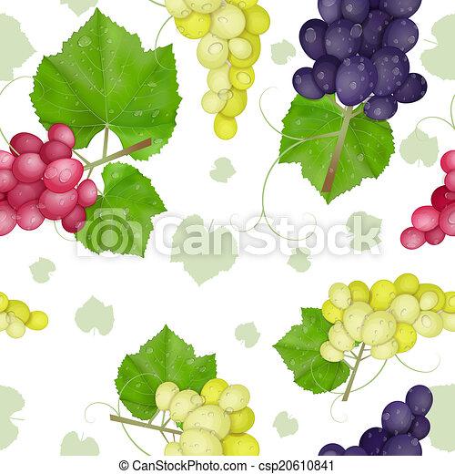 different varieties of grapes - csp20610841