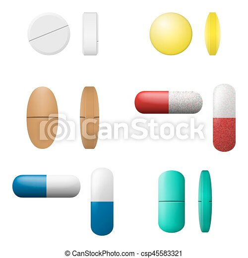 different vector pills and capsules set pharmacy drugs vector rh canstockphoto co uk vector pillsbury dough boy vector pillows