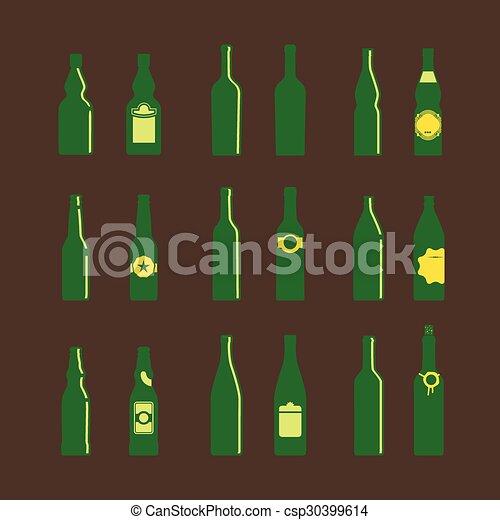 differente, bottiglie, etichette - csp30399614
