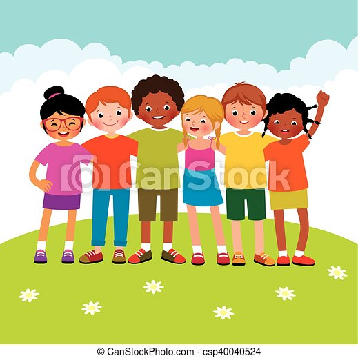 differente, gruppo, bambini, etnico - csp40040524