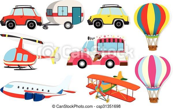 differente, trasporto, tipo - csp31351698
