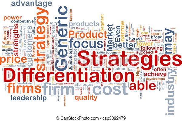 Estrategias de diferenciación, concepto de fondo - csp3092479