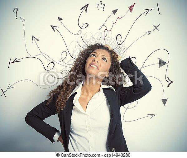 difficile, business, choix - csp14940280