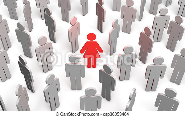 difficile, (symbolic, figures, people), choix - csp36053464
