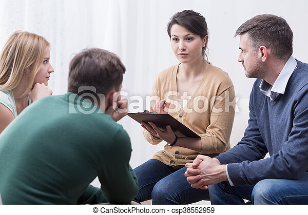 Difficult but satisfying role of a support group moderator - csp38552959