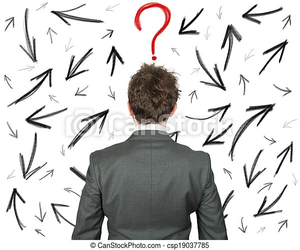 Difficult choices of a businessman - csp19037785