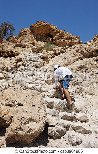 Difficult path to the top. - csp3904985