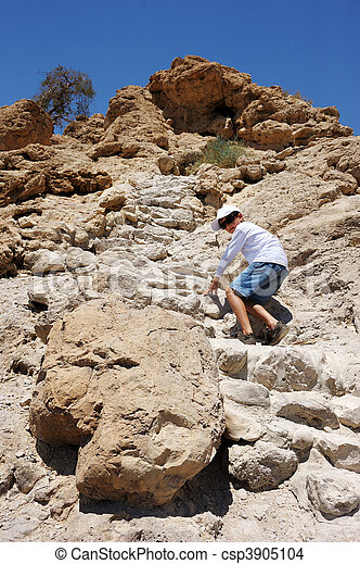 Difficult path to the top. - csp3905104