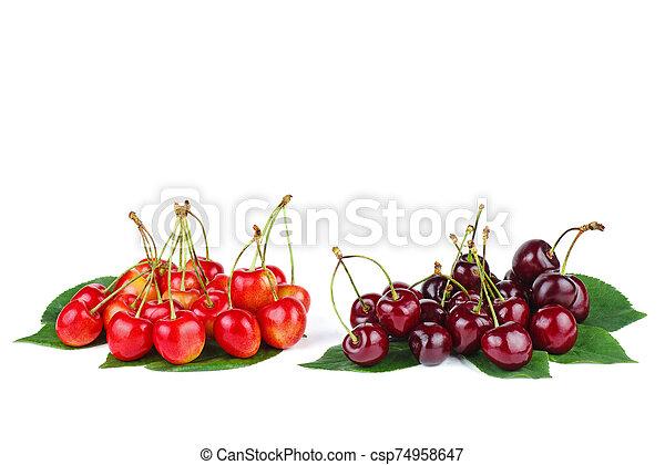 diffrent, dos, cerezas, pilas - csp74958647
