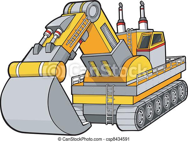 Digger Construction Vector - csp8434591