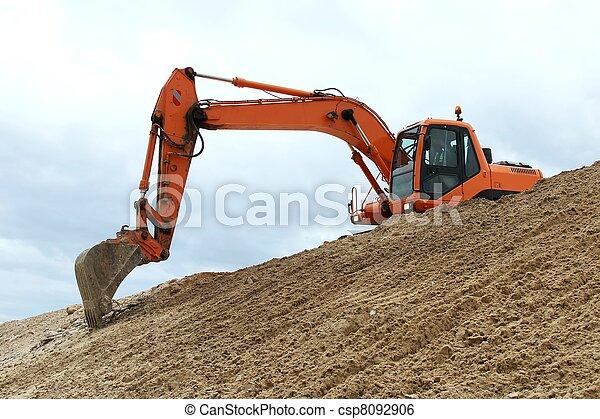 Digging Machine Working - csp8092906