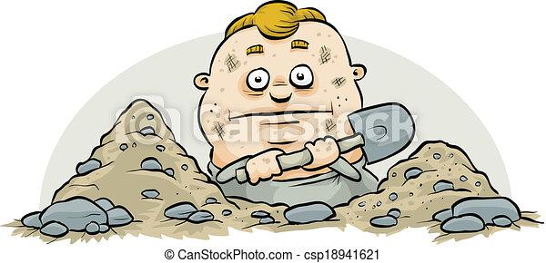 Digging Man - csp18941621