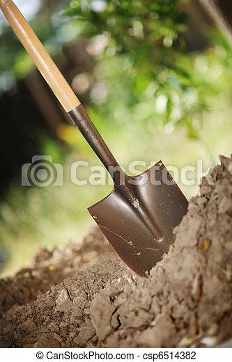 Digging soil - csp6514382