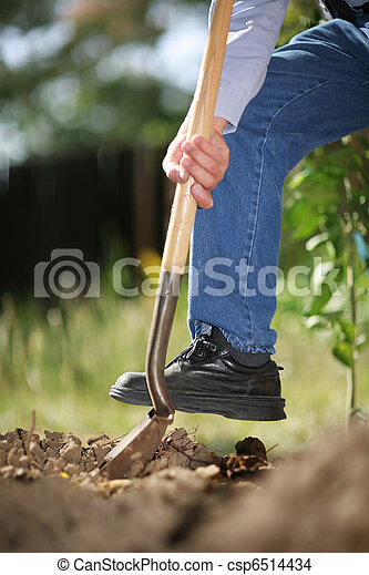 Digging soil - csp6514434