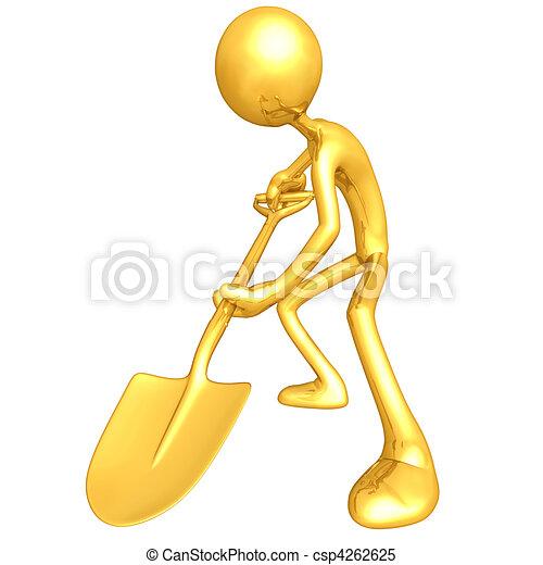 Digging With A Shovel - csp4262625