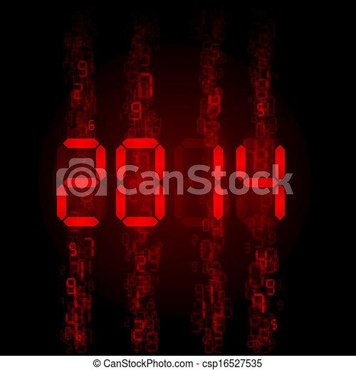 Digital 2014 numerals. - csp16527535