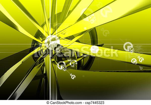 Digital 3d background - csp7445323