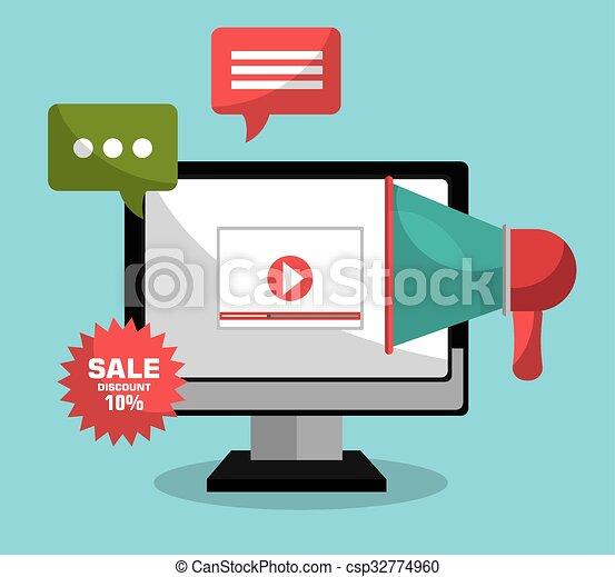 digital advertising and marketing graphic design vector clip art rh canstockphoto com advertising billboard clipart vintage advertising clip art