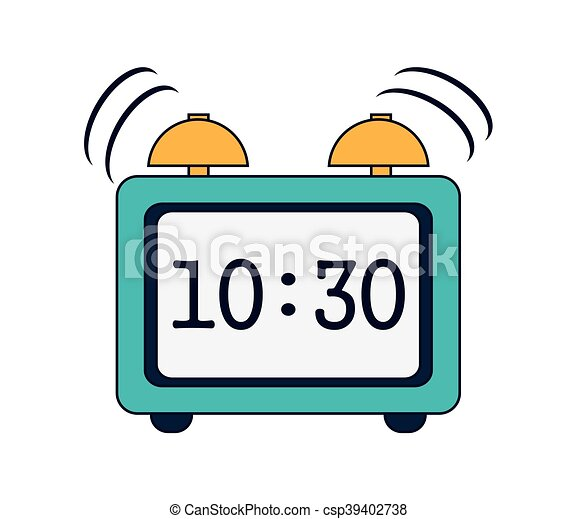 flat design digital alarm clock icon vector illustration vectors rh canstockphoto com