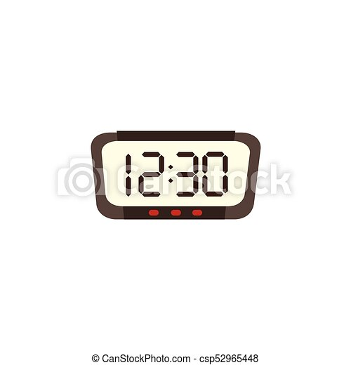 electronic digital alarm clock radio with big numbers flat eps rh canstockphoto com Analog Clock Clip Art Vintage Clock Clip Art