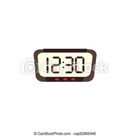 electronic digital alarm clock radio with big numbers flat eps rh canstockphoto com free clipart digital clock digital alarm clock clipart