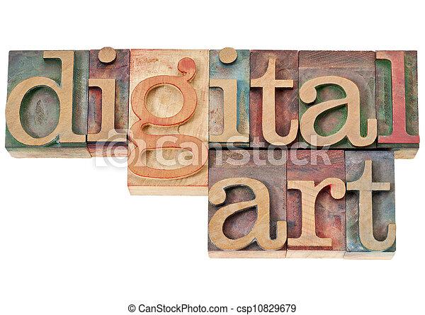 digital art in wood type - csp10829679